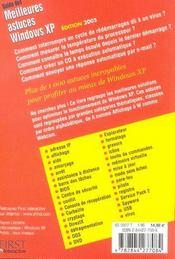 Guide Des Meilleures Astuces Windows Xp - 4ème de couverture - Format classique