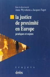 La justice de proximite en europe pratiques et enjeux - Intérieur - Format classique