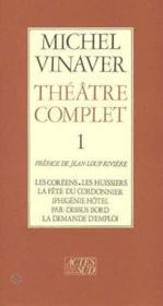 Theatre complet 1 les coreens - les huissiers - la fete du cordonnier - Couverture - Format classique