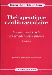 Therapeutique Cardiovasculaire 2eme Edition - Intérieur - Format classique
