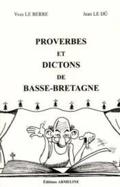 Proverbes et dictons de basse-bretagne - Couverture - Format classique