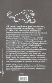 Panthères noires ; histoire du black panther party - 4ème de couverture - Format classique