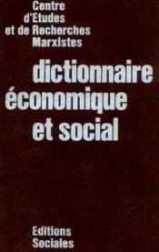 Dictionnaire économique et social - Couverture - Format classique