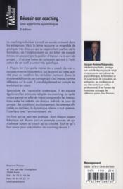 Reussir son coaching 3e ed - 4ème de couverture - Format classique