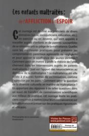 Enfants Maltraites De L'Affliction A L'Espoir - 4ème de couverture - Format classique
