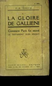 La Gloire De Gallieni. - Couverture - Format classique