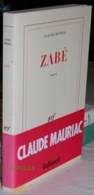 Zabé. - Couverture - Format classique