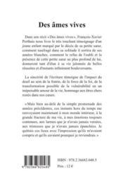Des âmes vives - 4ème de couverture - Format classique