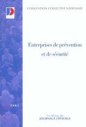 Entreprises de prevention et de securite - Intérieur - Format classique