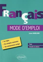 Français mode d'emploi - Couverture - Format classique