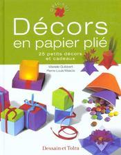 Decors En Papier Plie - Intérieur - Format classique