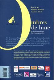 Ombres de lune et autres nouvelles du prix Hemingway (édition 2018) - 4ème de couverture - Format classique