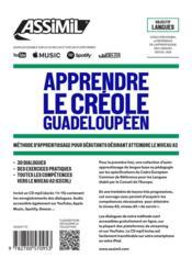 Apprendre le créole guadeloupéen ; débutants A2 - 4ème de couverture - Format classique