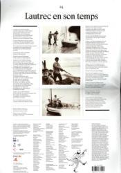 Toulouse-Lautrec (journal) - 4ème de couverture - Format classique