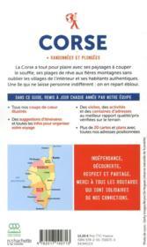 Guide du Routard ; Corse ; + randonnées et plongées (édition 2020) - 4ème de couverture - Format classique