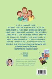 Les petits aventuriers t.4 ; panique à Paris ! - 4ème de couverture - Format classique