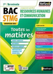 Réflexe Bac ; ressources humaines et communication ; STMG ; toutes les matières ; 1re/terminale ; enseignement spécifique (édition 2020) - Couverture - Format classique