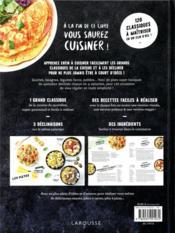 À la fin de ce livre vous saurez cuisiner ! ; réinventez vos basiques : quiches, gratins, soupes complètes, risottos... - 4ème de couverture - Format classique
