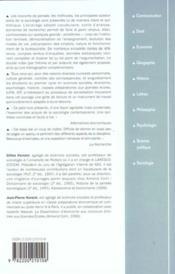 Introduction A La Sociologie ; 5e Edition - 4ème de couverture - Format classique