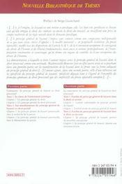 Le principe de loyauté en droit processuel - 4ème de couverture - Format classique
