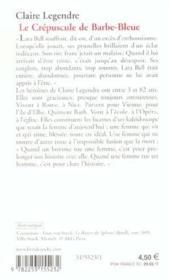 Le Crepuscule De Barbe Bleue - Couverture - Format classique