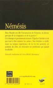 Némésis - 4ème de couverture - Format classique