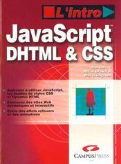 L'Intro Javascript, Dhtml & Css - Intérieur - Format classique