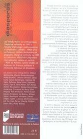 Les Diasporas ; 2000 Ans D'Histoire - 4ème de couverture - Format classique