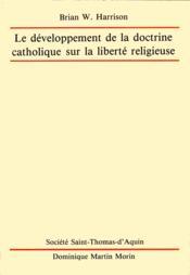 Developpement de doctrine liberte religieuse - Couverture - Format classique