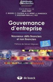 Gouvernance d'entreprise ; nouveaux défis financiers et non financiers - Couverture - Format classique