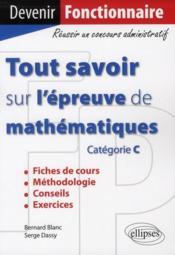 Tout savoir sur les mathématiques - Couverture - Format classique