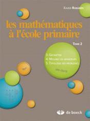 Les mathematiques a l'ecole primaire -tome 2 - Couverture - Format classique