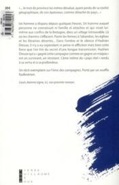 Dreuse - 4ème de couverture - Format classique