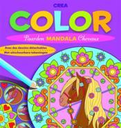 Crea color mandala chevaux (avec des dessins détachables) - Couverture - Format classique