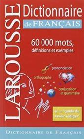 Larousse dictionnaire de français - Couverture - Format classique