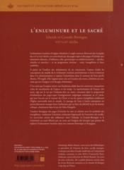 Enluminure Et Le Sacre - 4ème de couverture - Format classique
