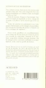 La Voix De L'Eau ; Le Parc En Haut De La Montagne - 4ème de couverture - Format classique