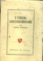 L'Univers Concentrationnaire - Couverture - Format classique
