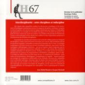 Hermes N.67 ; Interdisciplinarité : Entre Discipline Et Indiscipline - 4ème de couverture - Format classique