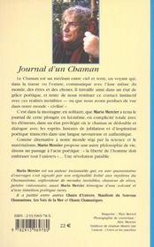 Le Journal D'Un Chaman - 4ème de couverture - Format classique