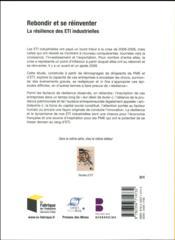 Rebondir et se réinventer ; la résilience des ETI industrielles (édition 2017) - 4ème de couverture - Format classique