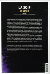La soif - 4ème de couverture - Format classique