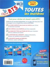Objectif BTS ; toutes les matières ; BTS MCO, 1re et 2e années (édition 2021) - 4ème de couverture - Format classique