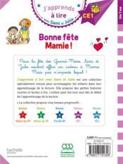 J'apprends à lire avec Sami et Julie ; bonne fête Mamie ! - 4ème de couverture - Format classique