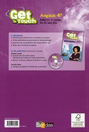 Anglais ; 4ème ; palier 2-1ère année ; de A2 vers A2+ ; manuel de l'élève - 4ème de couverture - Format classique