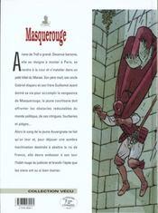 Masquerouge t.4 ; les intrigants - 4ème de couverture - Format classique