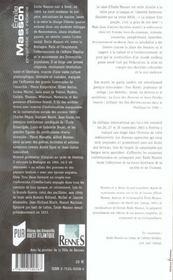 Emile masson ; prophete et rebelle - 4ème de couverture - Format classique