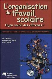 Organisation du travail scolaire - Intérieur - Format classique