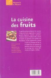La cuisine des fruits - 4ème de couverture - Format classique