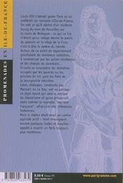 Ile-de-france temps louis xiv - 4ème de couverture - Format classique